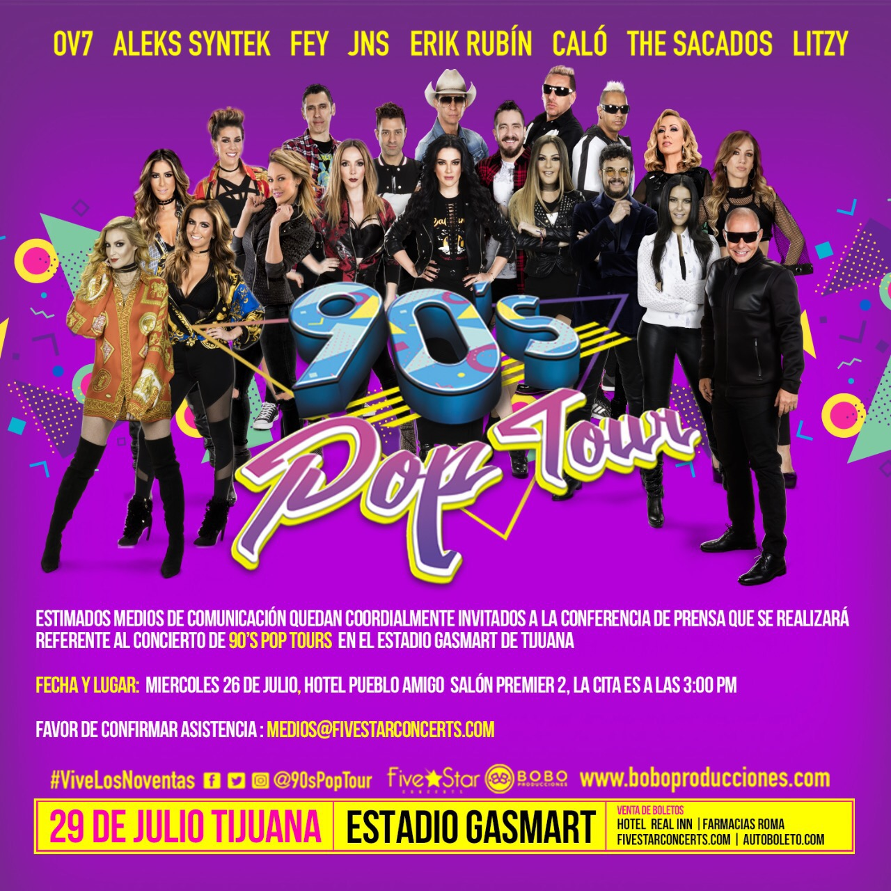 POP TOUR 29 JULIO 2017