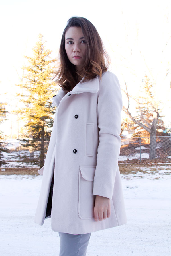 Zara Jacket, Trf, blush jacket, pink jacket, winter fashion, style, fashion blog, calgary fashion