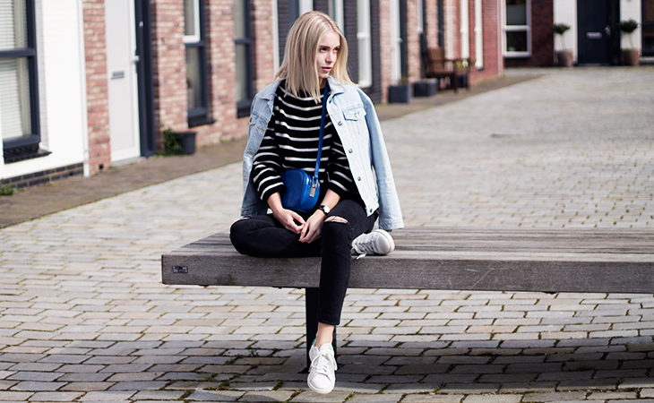 Fashion Attacks outfit ootd stripes blue kind of day
