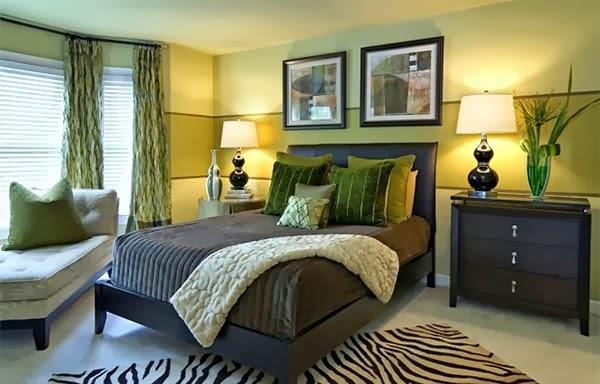 desain kamar tidur warna hijau cerah desain rumah desain