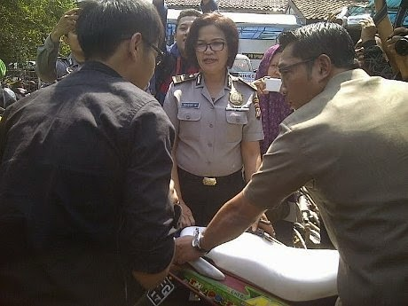 Ridwan Kamil Minta Knalpot Bising yang Disita Polisi