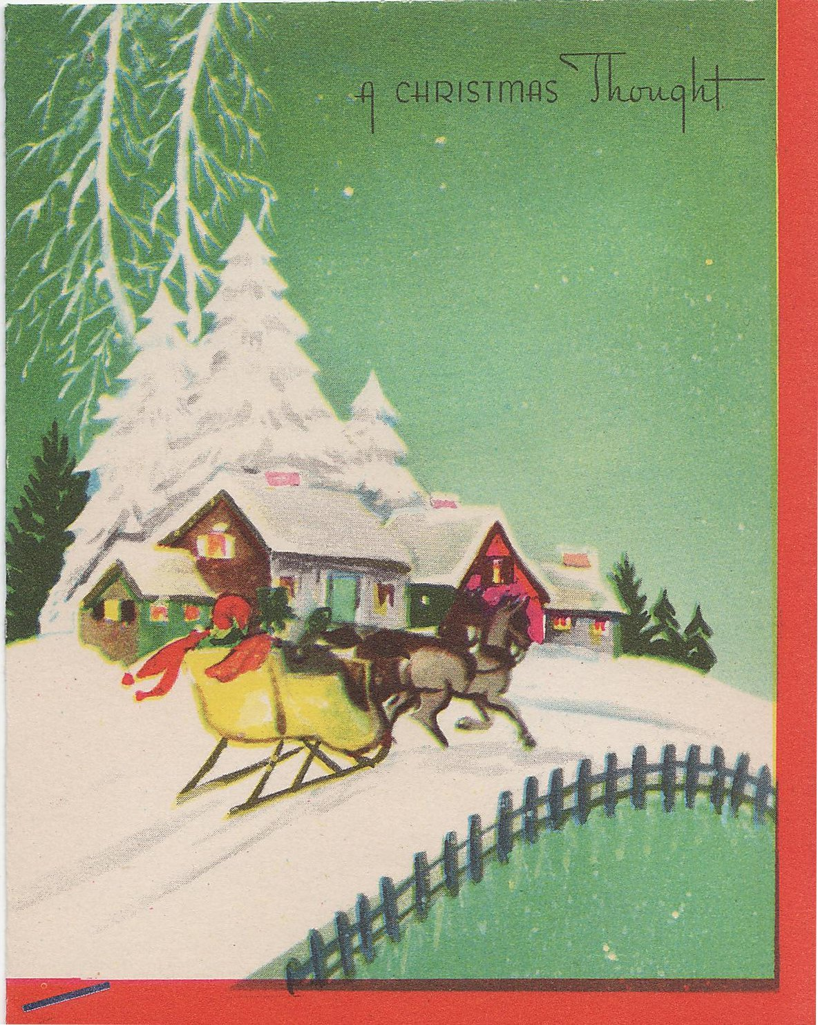 oh  by the way     vintage holiday cards and tags