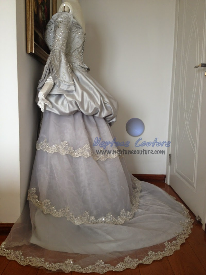 St Pucci replica off the shoulder satin vintage wedding dress with ...