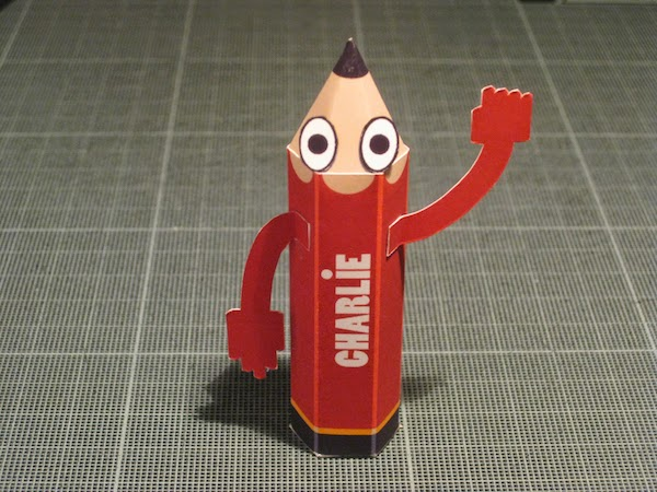 Charlie Paper Toy