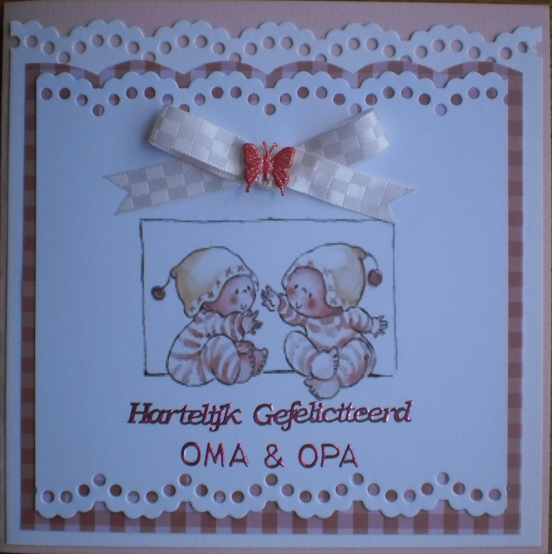 gefeliciteerd opa en oma tweeling