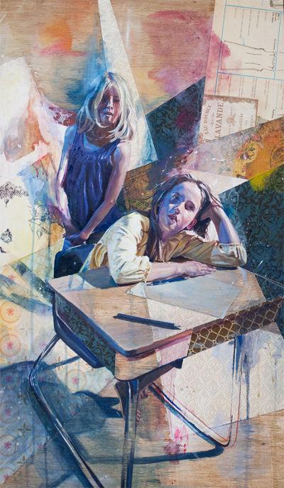 andrew young pinturas oleo adolescencia perdida encontrada