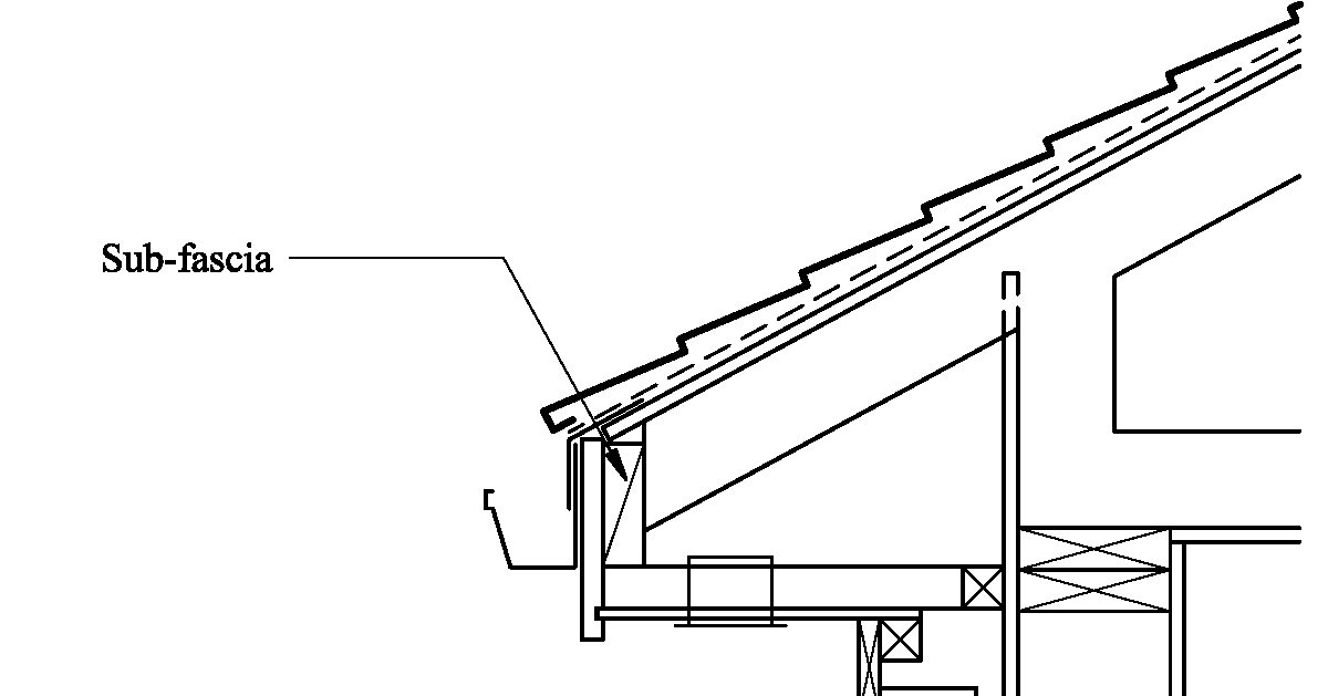 House design manual sub fascias why use them for Soffit and fascia calculator