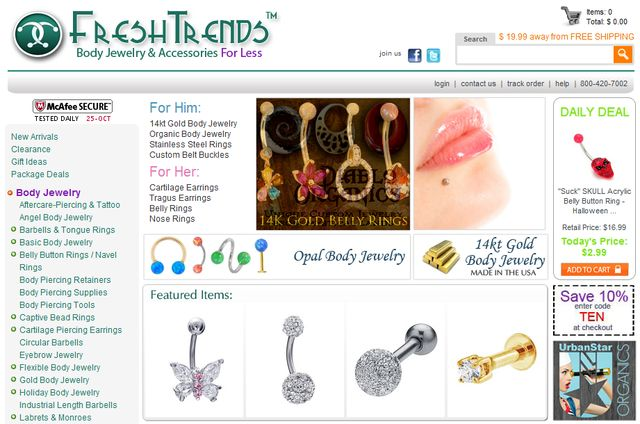 Body Jewelry & Accessories