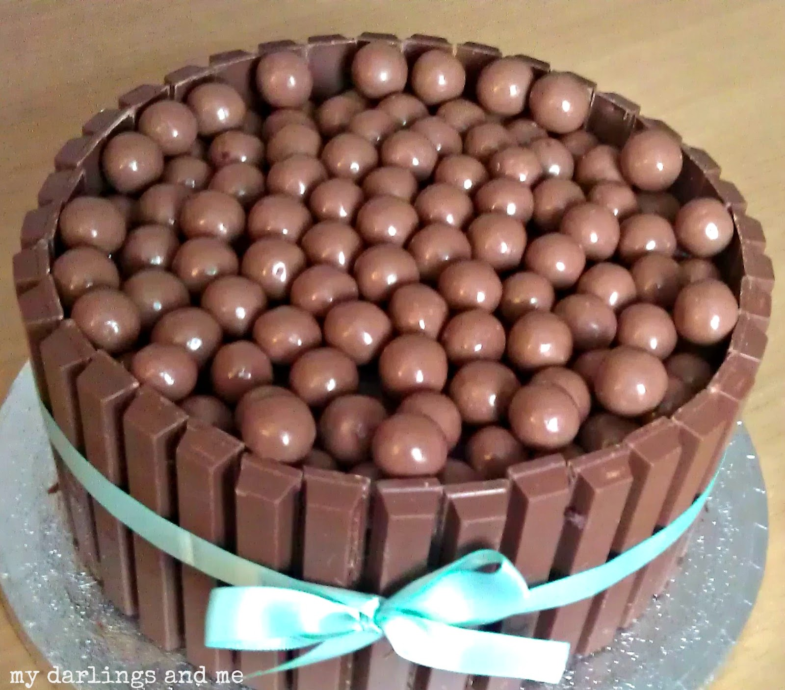 kitkat and maltesers cake