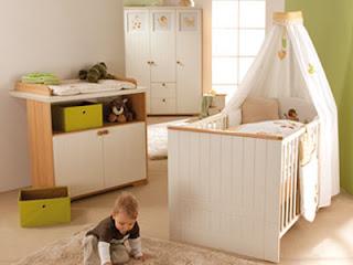 cuarto bebé blanco verde
