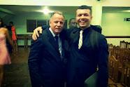 Eu e o Pastor da Catedral da Benção