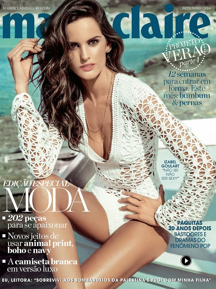 Izabel Goulart Cover Marie Claire Brazil September 2014 by Eduardo Rezende