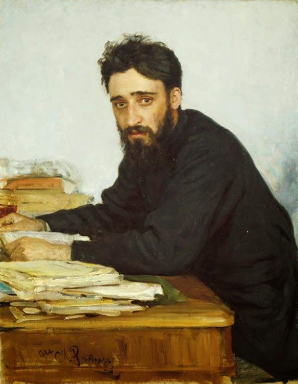 Retrato de Vsévolod Mihkailovich Garshin.Iliá Repin. 1884