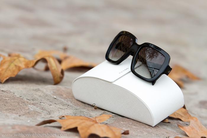 Nuevas gafas de sol cuadradas de la Nueva Colección de Prada 2015 modelo 07RS en color negro de la óptica online Solextrem con descuento