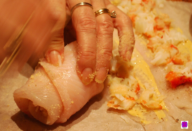 crab stuffed dover sole roll the fillets crab stuffed dover sole roll ...