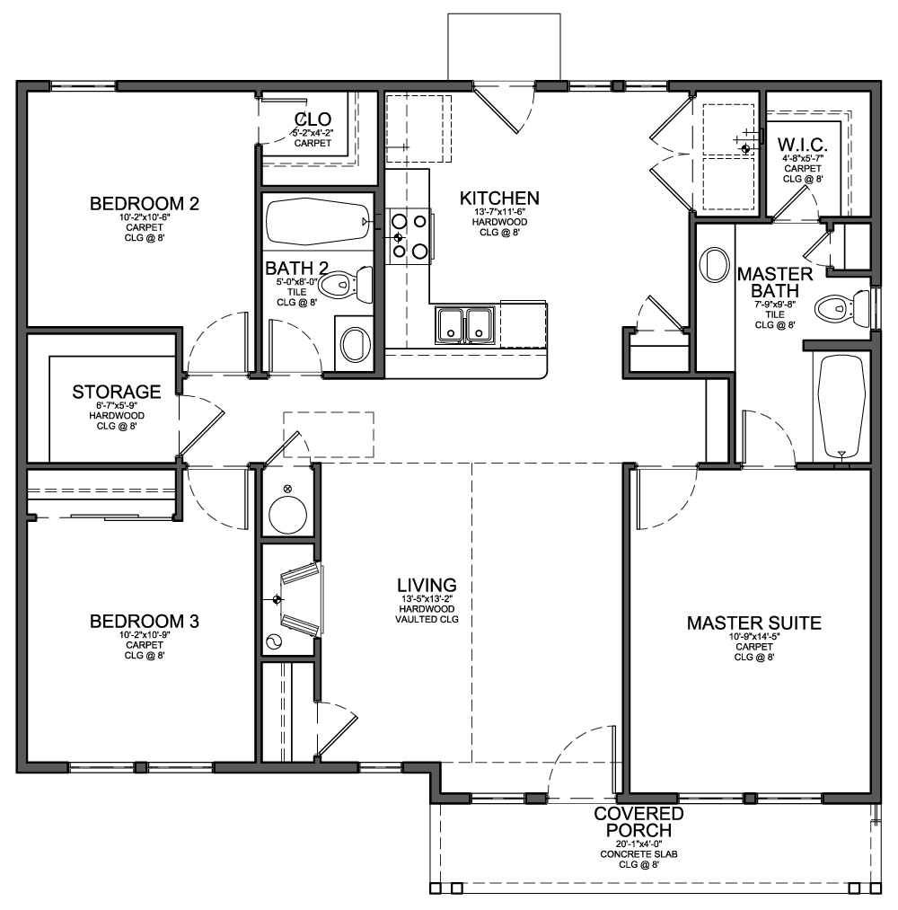Small house plans 8 for Small cabin floorplans