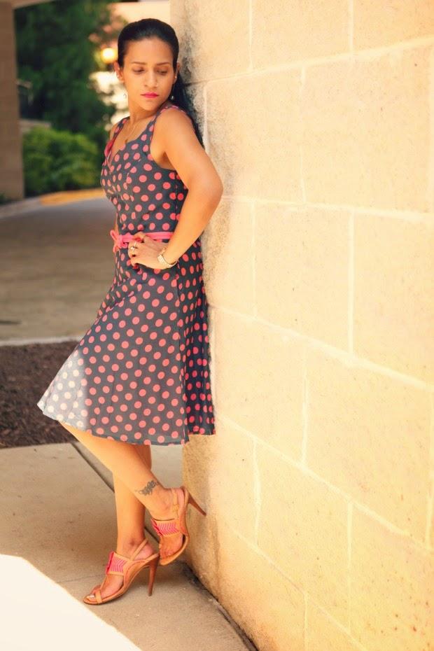 eShakti Review, Polka Dot Dress, Vintage Cut, Tanvii.com