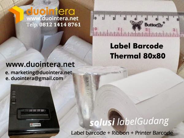 kertas roll thermal, kertas thermal 80x80, label thermal 80x80, label thermal jakarta, label thermal surabaya, label barcode thermal, Jual Kertas Roll
