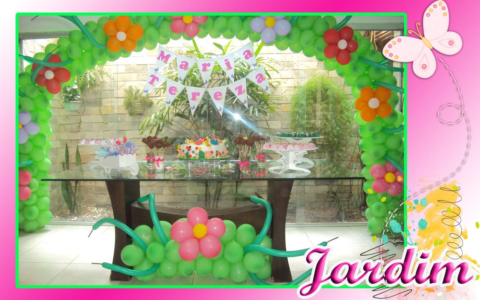ideias para aniversario tema jardim Dando vida ás suas idéias