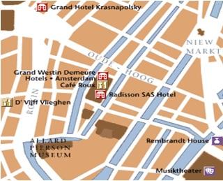 Mapa de Restaurant d Vijff Vlieghen Amsterdam
