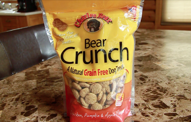 Charlee Bear dog treats with apple chicken and pumpkin
