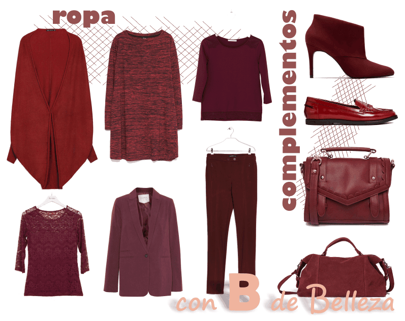 Color tendencia moda, ropa, calzado y bolsos