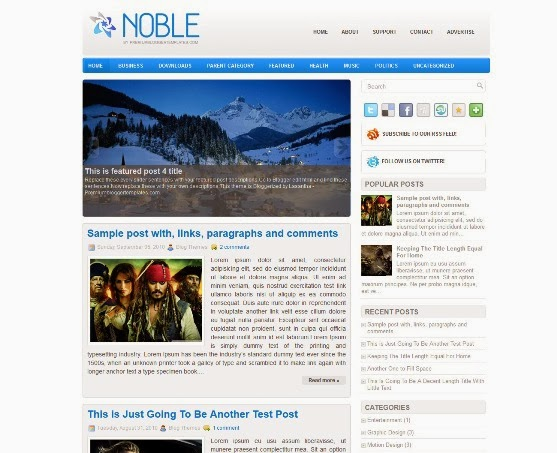 Noble Blogger Template