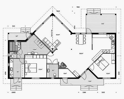 Planos de casas gratis plano casa prefabricada 164 m2 for Disenos y planos de casas prefabricadas