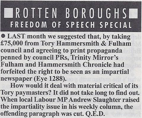 "Shepherd's Bush: Fulham Chronicle make Private Eye ""Rotten ..."