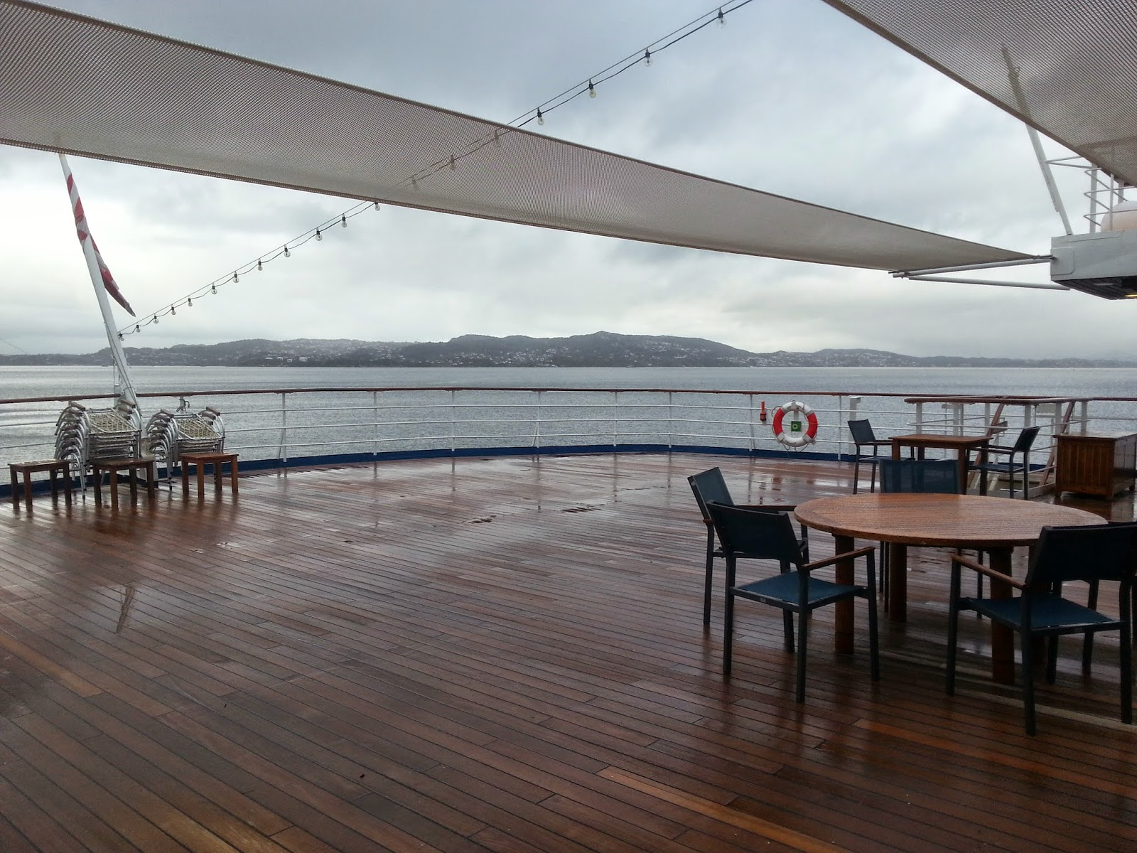 Cruise Ship Saga Pearl II - Aft Decks