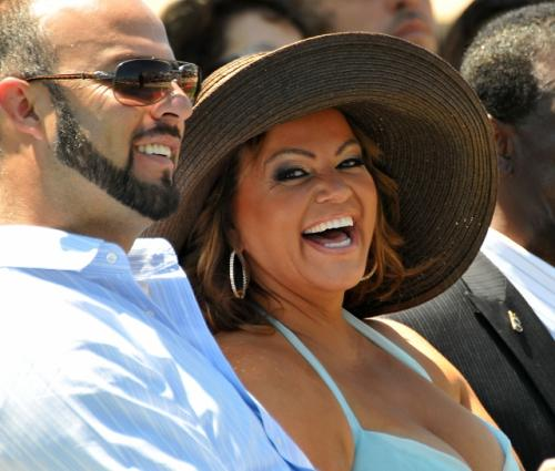The late Jenni Rivera and her now estranged husband, former White Sox