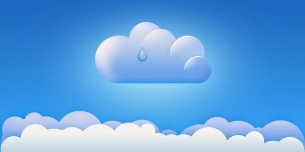 Cloud Icon Borders PSD