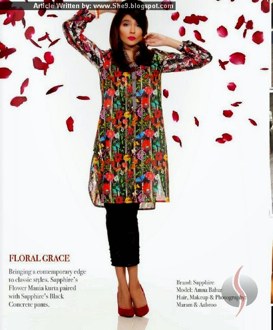 Sapphire by Khadijah Shah Valentine Dress Collection 2015