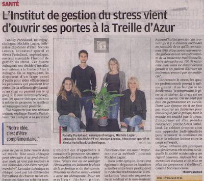 Article du journal la Provence paru le 3 Janvier 2016 avec Nicolas Leroux