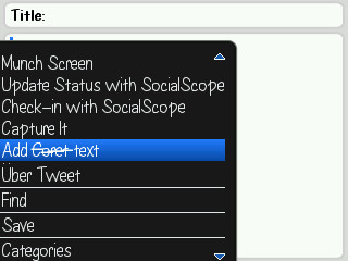 Coret Text Blackberry | Blackberry Applications World