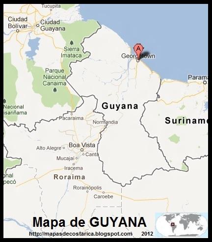 Mapa de GUYANA, Google Maps