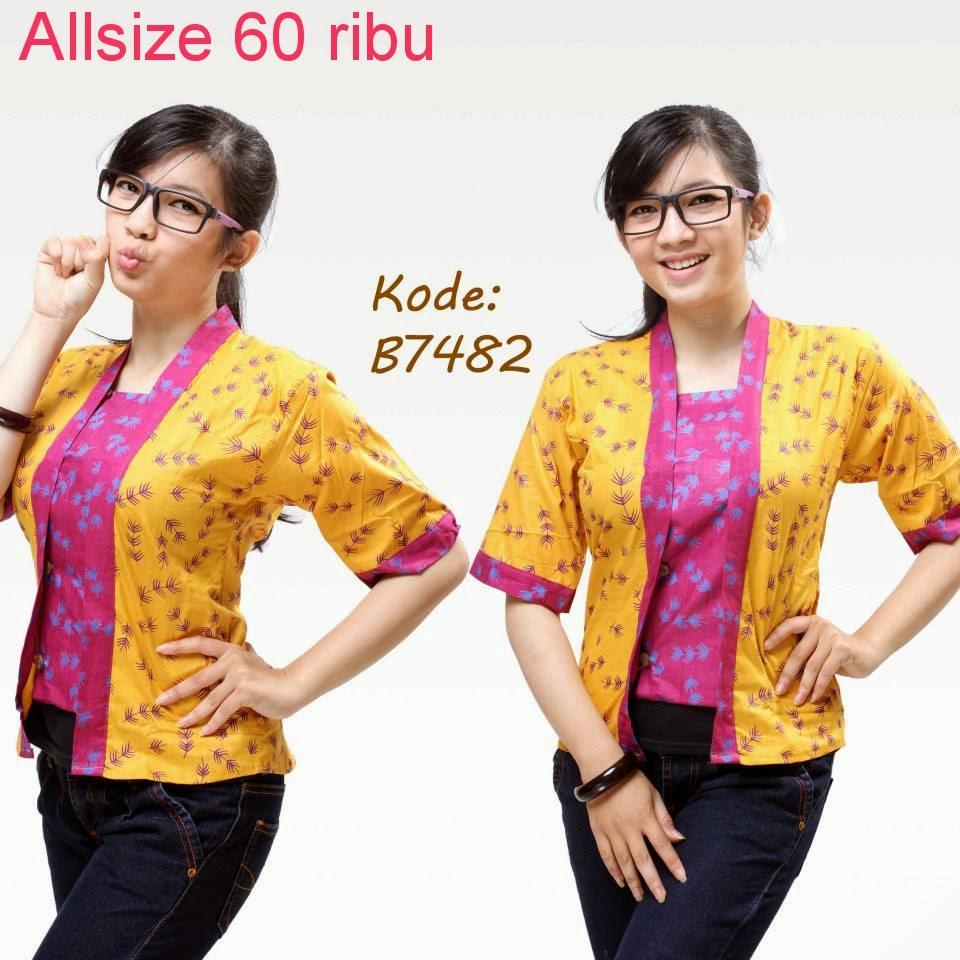 Model Baju Batik Wanita Untuk Kerja | Model Baju Batik