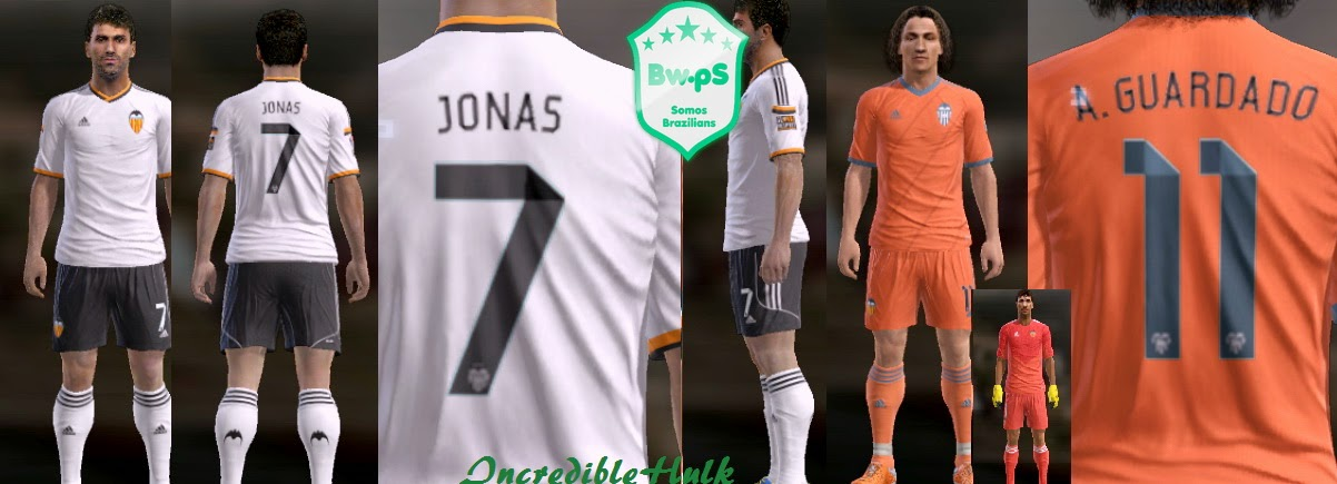 PES 2013 Valencia New 14/15 Kits by incrediblehulk