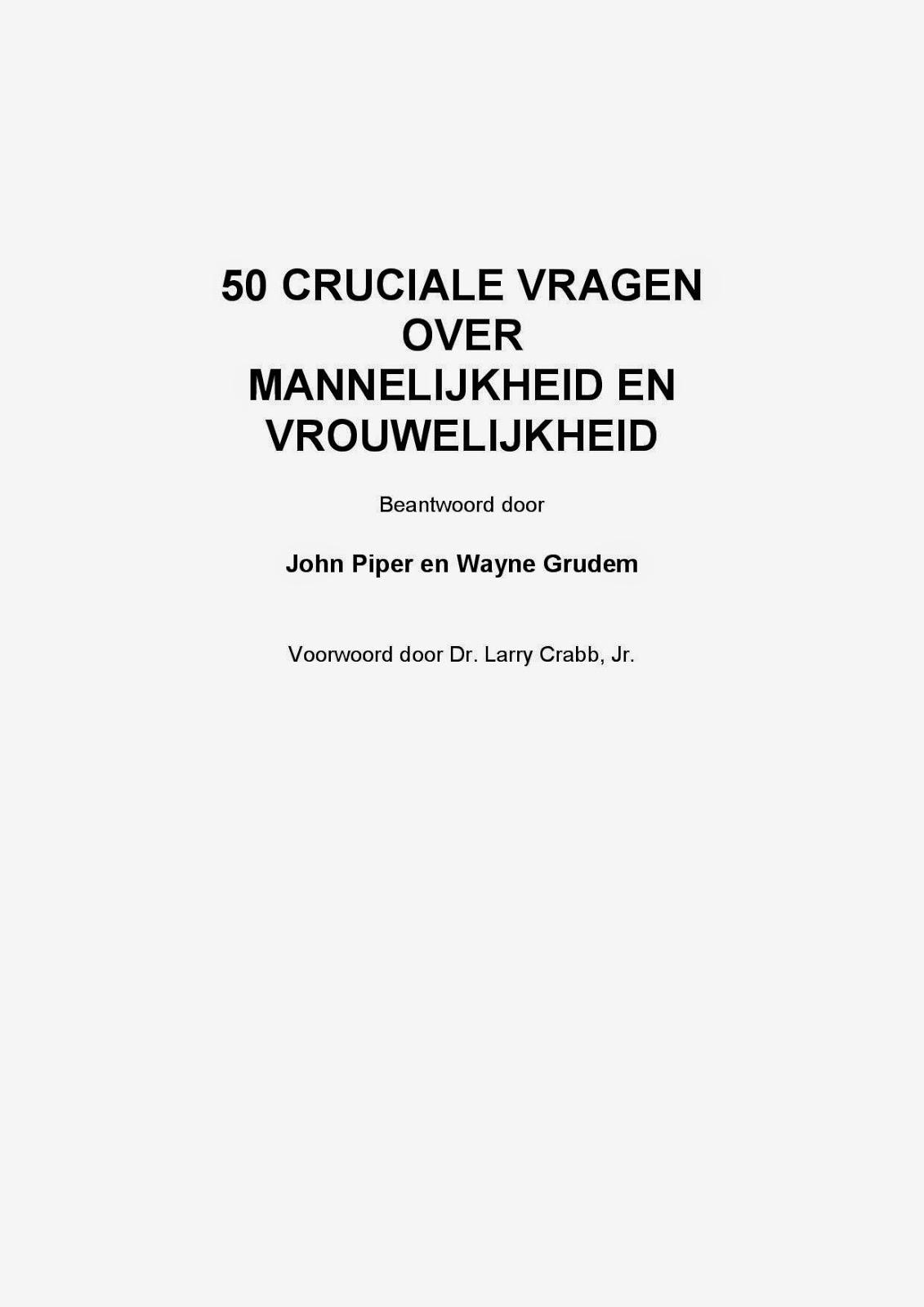 Diverse Auteurs-50 Cruciale Vragen Over Mannelijkheid En Vrouwelijkheid-