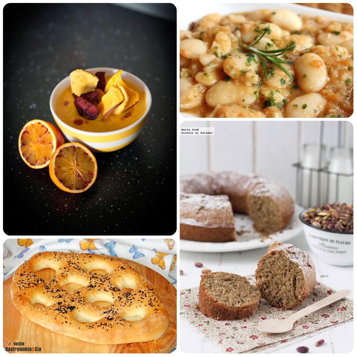 Cuarto menú vegetariano con recetas de otros blogs.