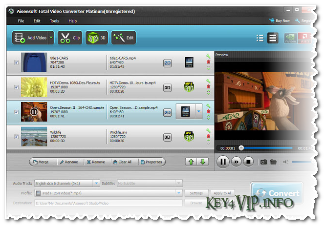 Aiseesoft Total Video Converter Platinum 7.1.32 Full,Phần mềm Convert Video,Add Watermark vào Video