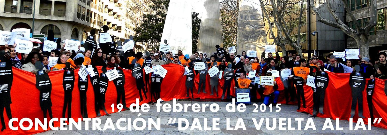 concentración proyecto de ley ingreso aragonés de inserción servicios sociales zaragoza