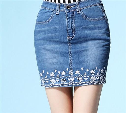 model rok jeans denim wanita desain casual simple dan elegan modern terbaru 2015/2016