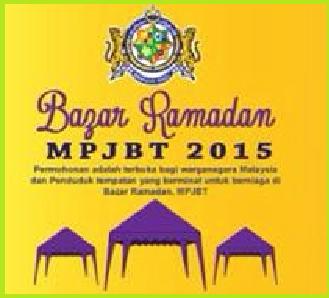 Borang Permohonan Bazar Ramadhan MPJBT 2015