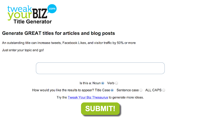 tweak your Biz Article tools