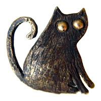 кулон кошка купить кулон кот купить бронзовая подвеска