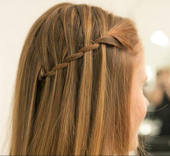 Hasil rambut lurus style kepang