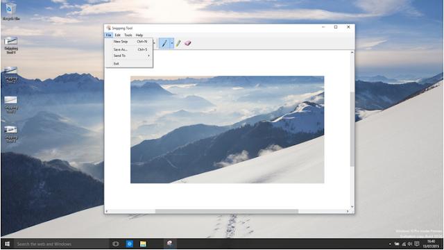 كيف تقوم بالتقاط صورة للشافشة في الويندوز10(سكرين شوت)