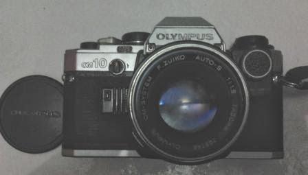 Olympus om-10 tampak depan