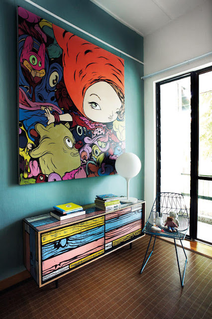 warna ceria dekorasi, hiasan dalaman rumah, dekorasi rumah, warna dinding, perabot